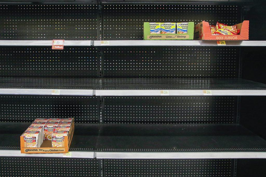Low food stocks