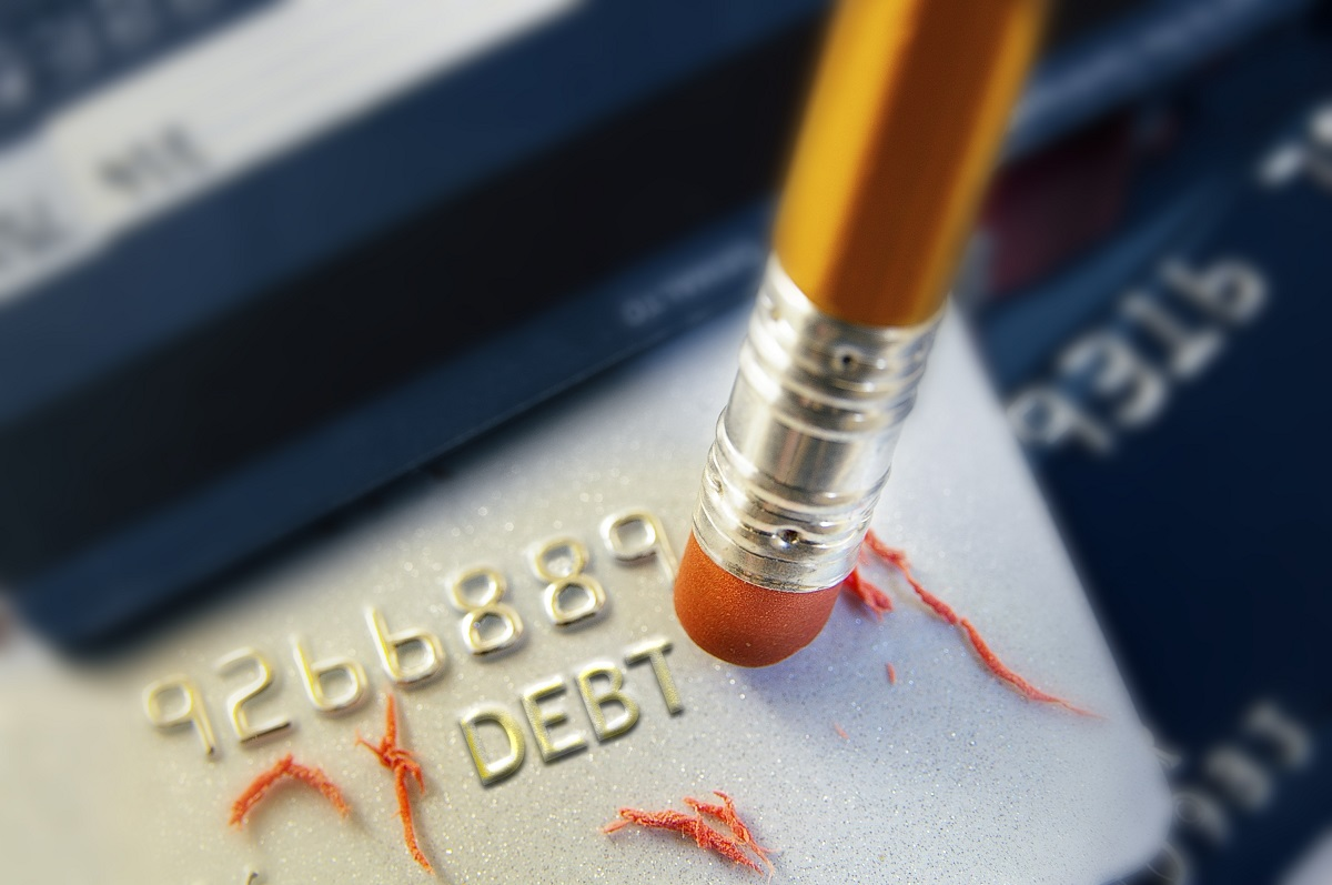debt on credit concept